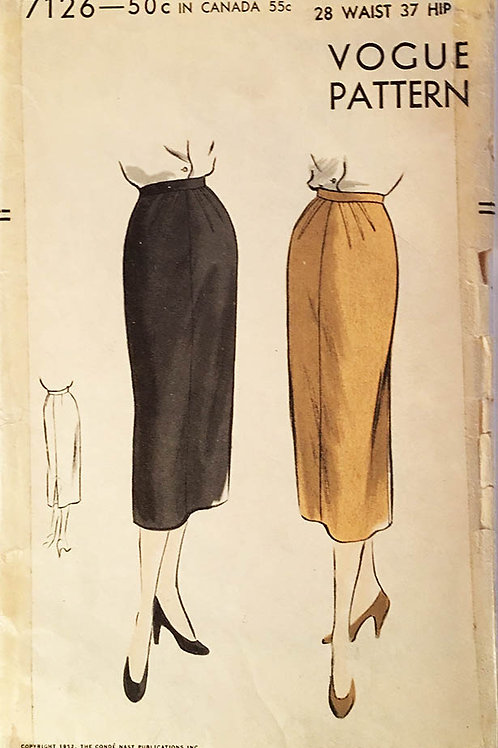 Vogue 7126.Vintage1951 Slim three-piece skirt