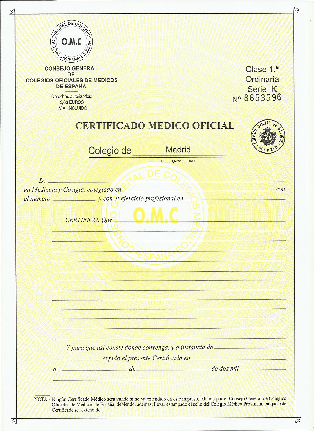 certificado médico para buceo deportivo en Reus
