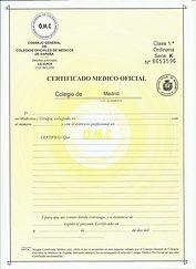 certificado médico reus