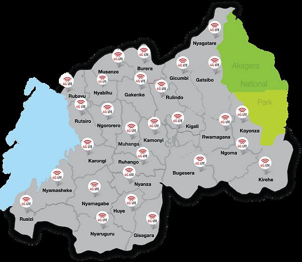 Coverage map KG 7 Ave Kigali Rwanda Kt Rwanda Networks Ltd