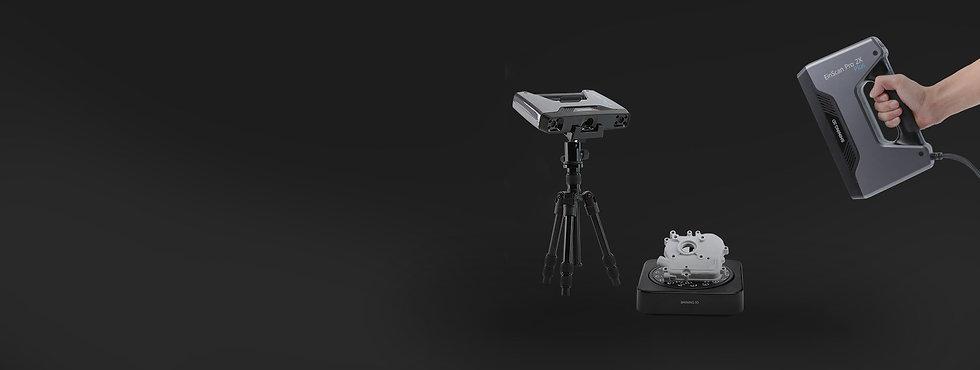 EinScan Pro 2X Plus 手持兩用3D掃描器,多種掃描模式