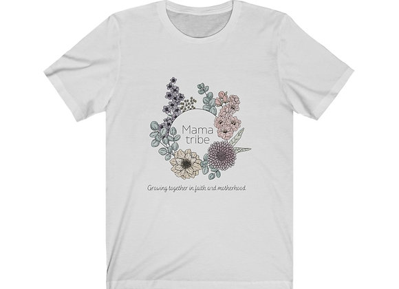 Mama Tribe Watercolor Floral Tee