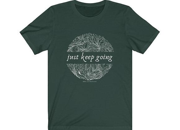 Just Keep Going Botanical Tee