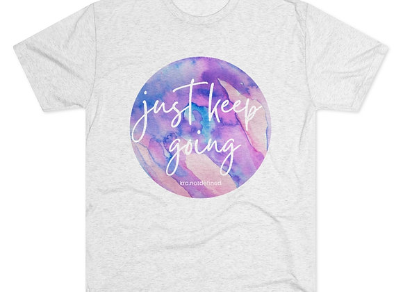 Just Keep Going Watercolor Triblend Tee