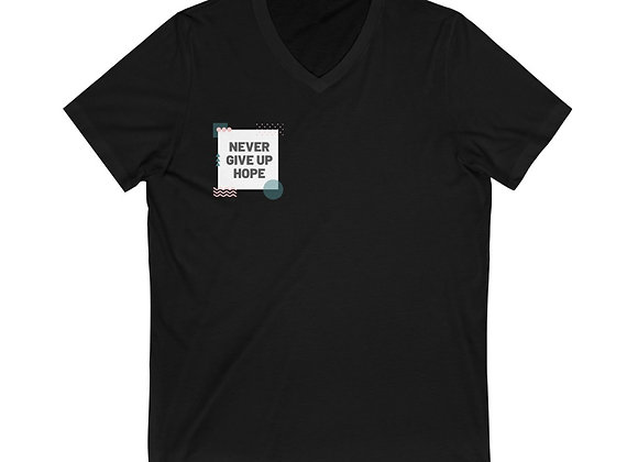 Never Give Up Hope V-Neck Tee