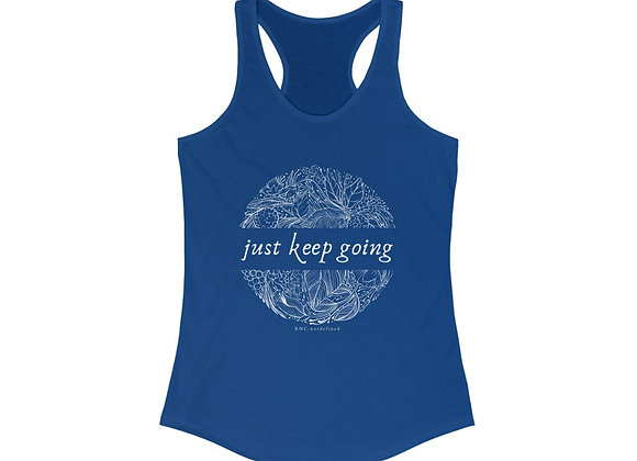 Just Keep Going Botanical Racerback Tank