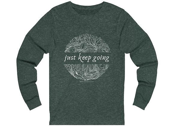 Just Keep Going Botanical Long Sleeve Tee