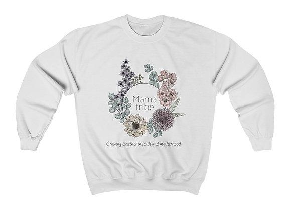 Mama Tribe Watercolor Floral Crewneck Sweatshirt