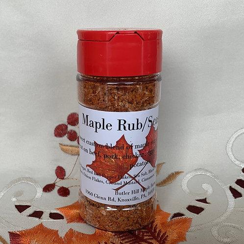4oz Maple Rub/Seasoning - Shaker Bottle