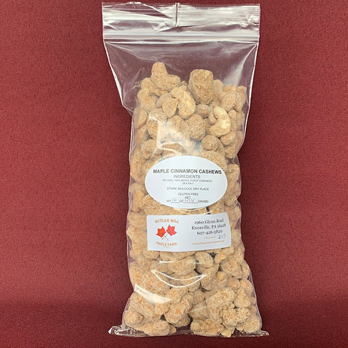 Cashews, Maple & Cinnamon Coated - Pound
