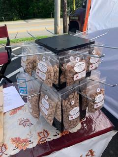 Nut display Robinson Farmers Market 6-1-2020