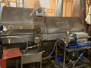 Evaporator, automatic draw off and filter press