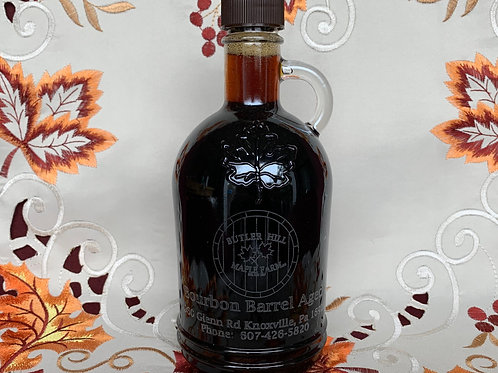 Bourbon Barrel Aged Syrup - 500 ml Gallone (round) Laser Etched Barrel