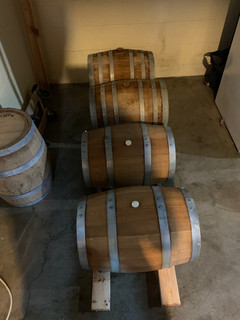 Syrup aging in 10 gallon Bourbon Barrels