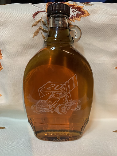 Sprint Car Laser Etched, 12oz, Amber Syrup