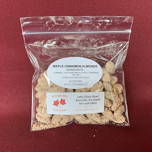 Almonds, Maple & Cinnamon Coated - 1/4 pound