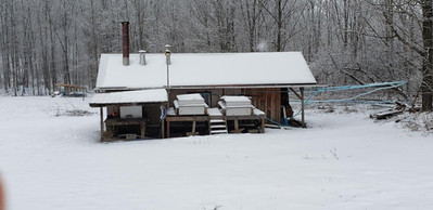 Sugar house after snow storm