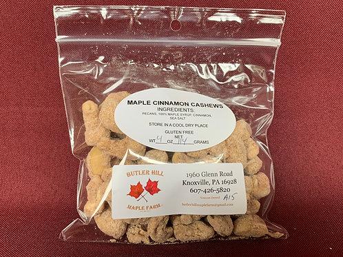 Cashews, Maple & Cinnamon Coated - 1/4 Pound