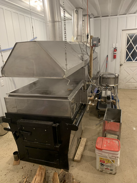 Evaporator set up and ready to run