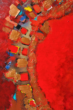Red Earth, 40x30, left side,2013