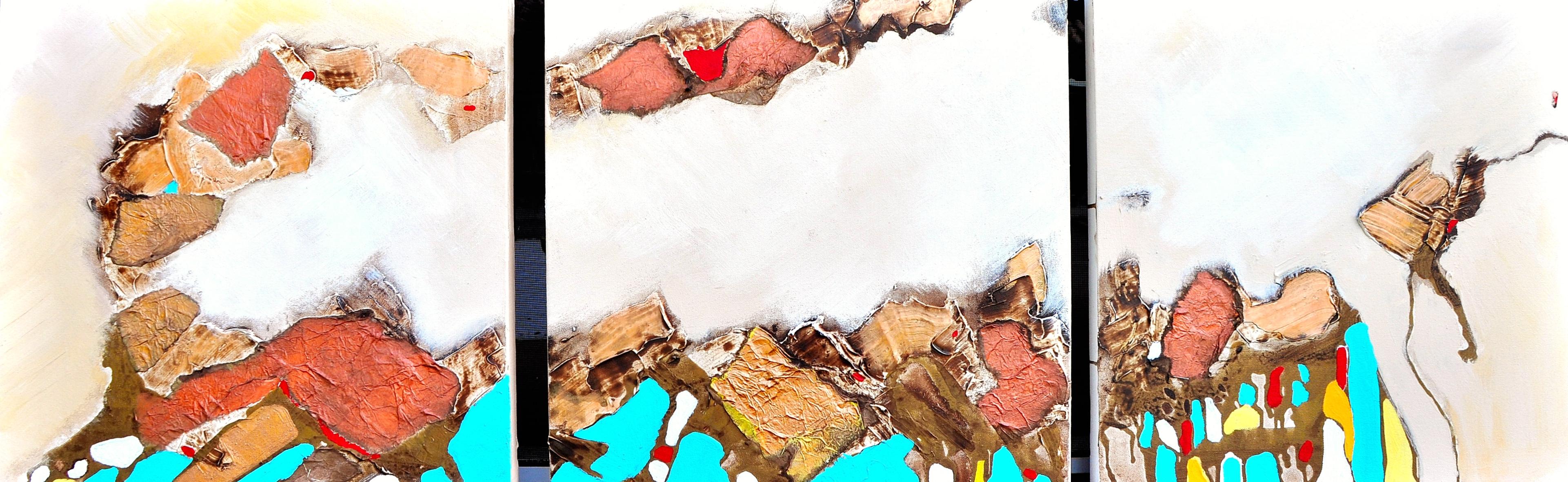 Sandstone 5 triptych,20x60,2014,Sold