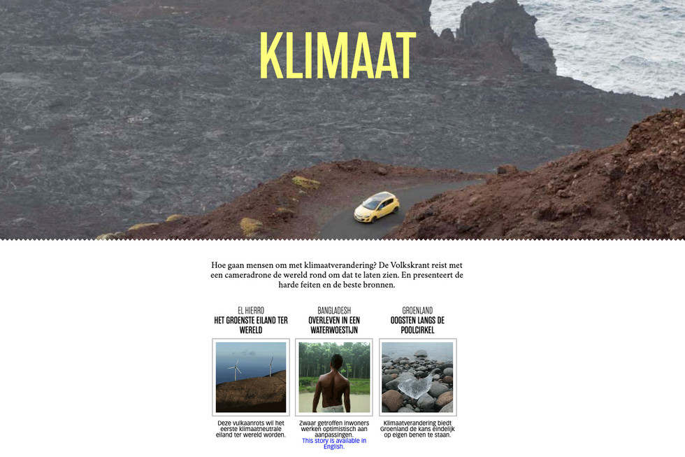 Our visit to the Island of Ell Hierro was part a bigger story about climate change all over the world. We worked on a new type of story telling that was nominated for the 'Zilveren Camera Story telling' award. Visit the project here : https://www.volkskrant.nl/kijkverder/2015/klimaat/