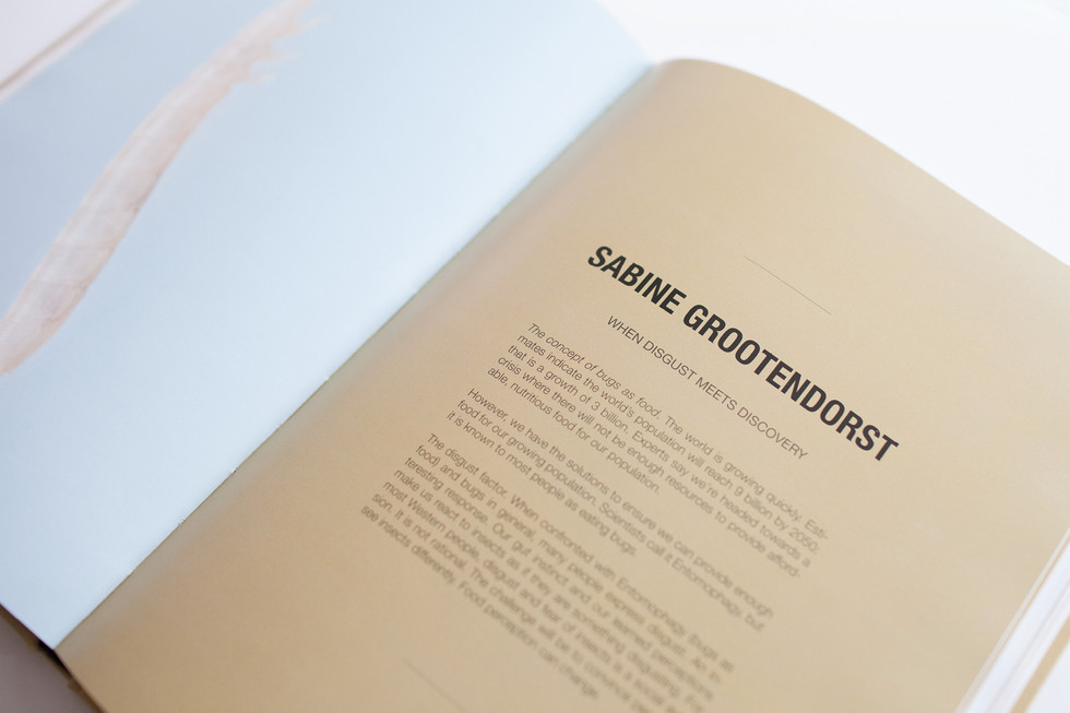 My work about insects as a new form of protein got featured in the book 'Feed a Different Imagination' (by L'Artiere)