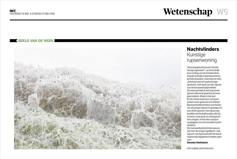 Scientific image of the week in Dutch newspaper NRC