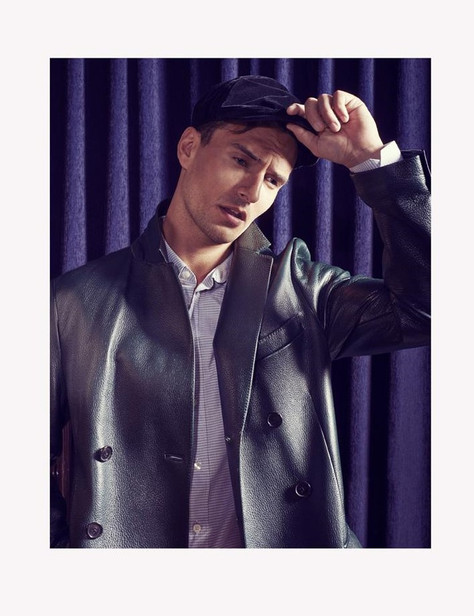 40s-male-model-leather-blazer-hat-layra-