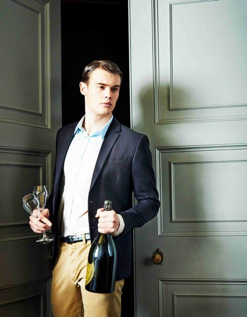 male-male-model-champaigne-bottle-doors-