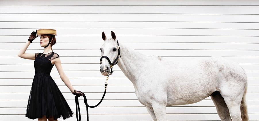 equestrian-style-white-horse-black-dress