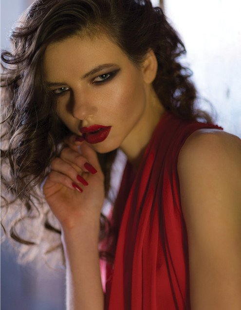 red-dress-gown-model-sexy-glamorous-even