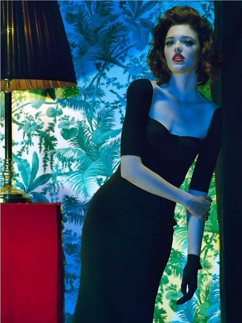 argentinian-tango-model-black-dress-d&g-