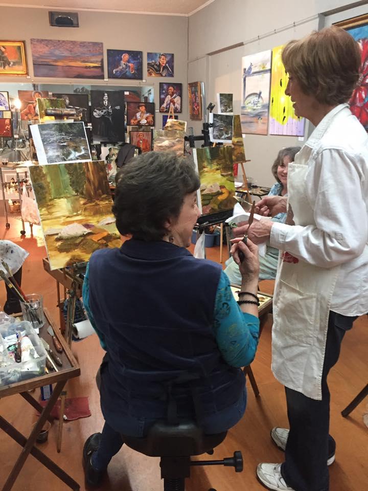 Gloria Rallison Workshop at Gallery 307