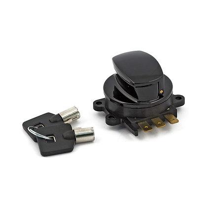 Ignition switch, side hinge type, black