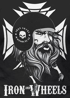 T-Shirt - Viking - Iron Wheels - LOGO back