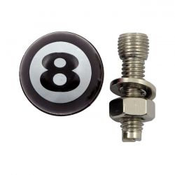 License Plate bolts - Trik Topz - 8 ball