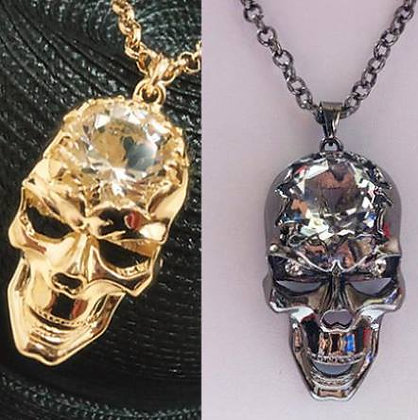 """Pedant Skull """"gold"""" or """"silver"""""""