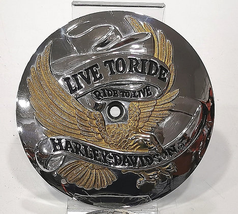 "HD org. air cleaner trim -  ""Live to ride-Ride to live"""