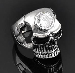 Ring Skull medalion