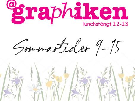 At Graphiken Sommartider 2021