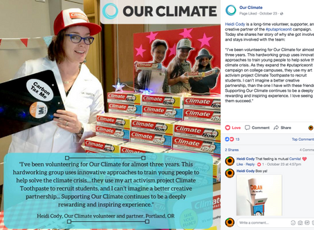 Featured Volunteer, Our Climate campaign