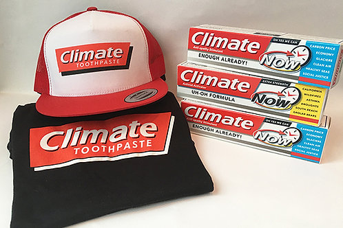 Uh Oh Formula Kit - TShirt, Hat, 3 Climate Toothpastes with Letters