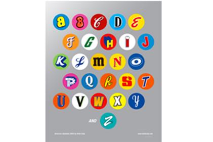 American Alphabet Poster