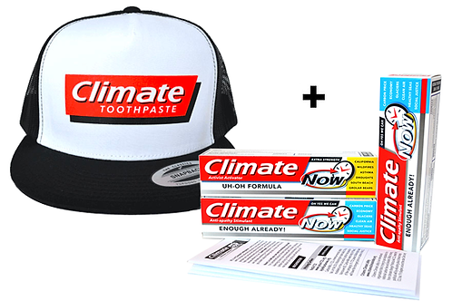 Activist Activator Kit – 1 Hat, 3 Climate Toothpastes w/Letters