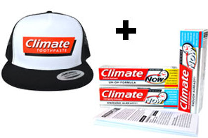 Activist Activator Kit – 1 Hat, 3 Climate Toothpastes