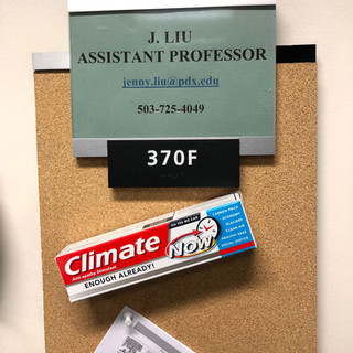 Climate Toothpaste at Portland State