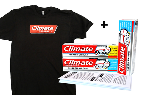 Hey That's My Shirt! Kit – TShirt + 3 Climate Toothpastes w/ Letters