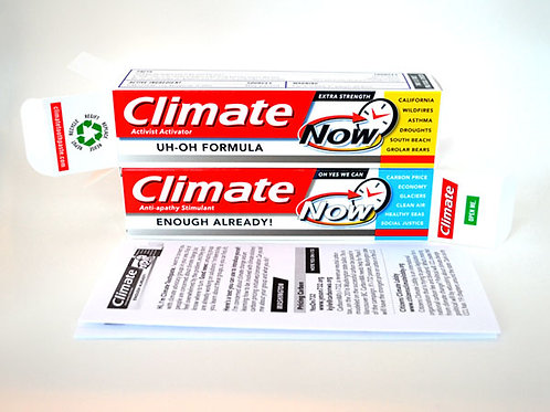 3 Climate Toothpastes w/ Letters
