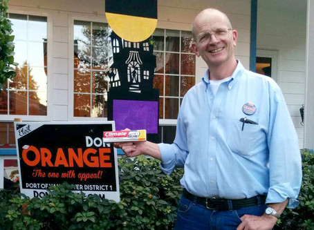 Volunteering for Don Orange's campaign